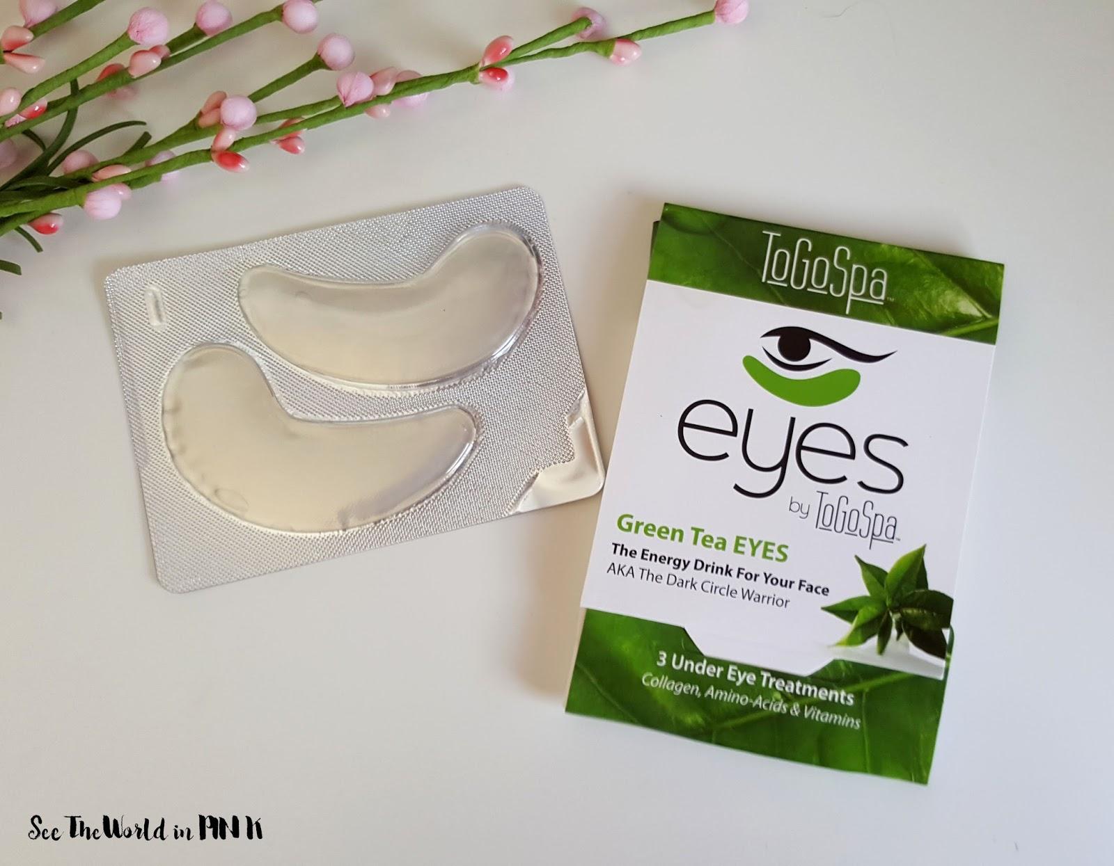 Mask Wednesday - ToGoSpa Green Tea Eyes Review