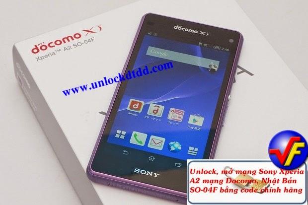 Giá code unlock, mở mạng sony xperia A2 docomo SO-04F ~ Mở mạng Sony