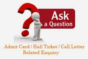 Admit Card Enquiry