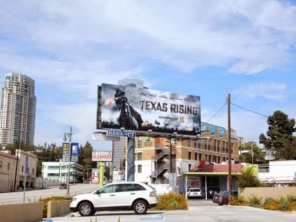 Texas Rising TV series billboard