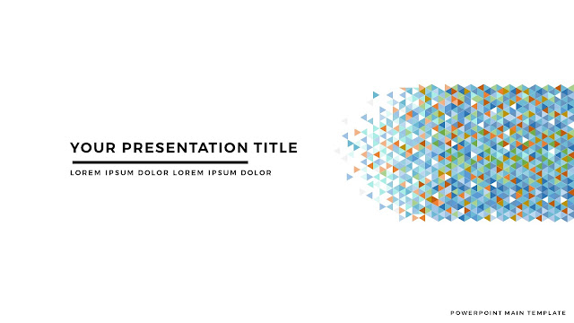 Polygonal Presentation Title Background Free PowerPoint Template with White Background