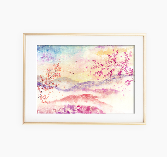 Loose Landscape Watercolor Painting
