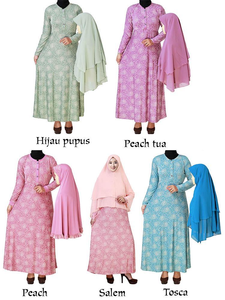 Gambar Baju Batik Gamis Di Sertai Blazer Itali Site