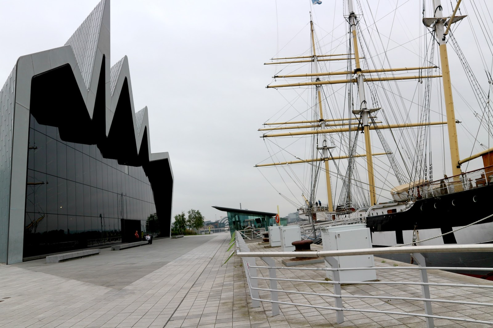 Glasgow Riverside Museum Tall Ship
