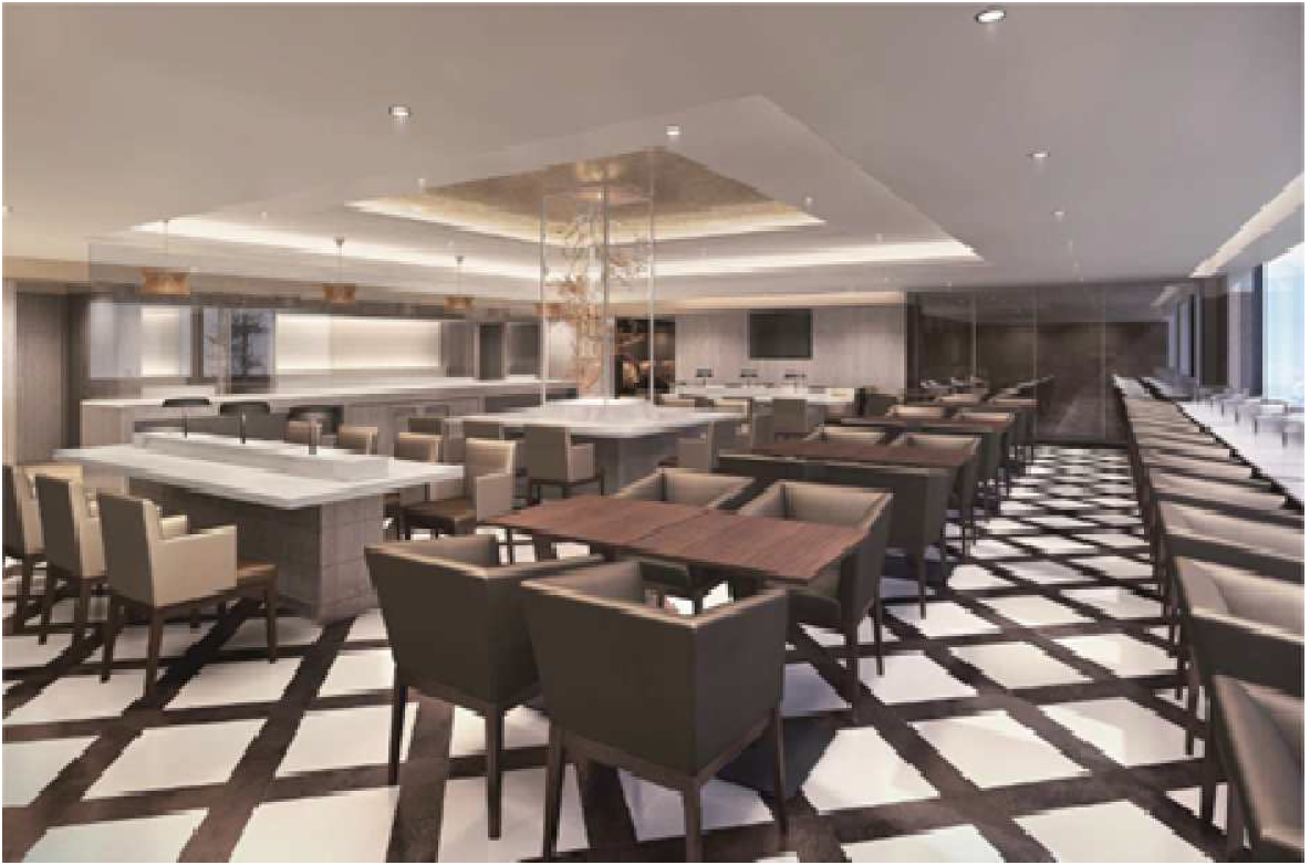The renovated international Sakura Lounge at Osaka Kansai Airport
