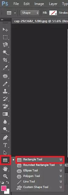 Membuat Latar Background Menggunakan Rectangle Tool Di Adobe Photoshop CC