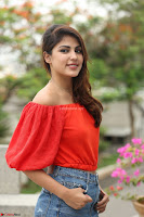 Rhea Chakraborty in Red Crop Top and Denim Shorts Spicy Pics ~  Exclusive 142.JPG