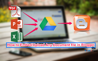 How to Embed pdf,doc,xls,ppt Files into Blogger