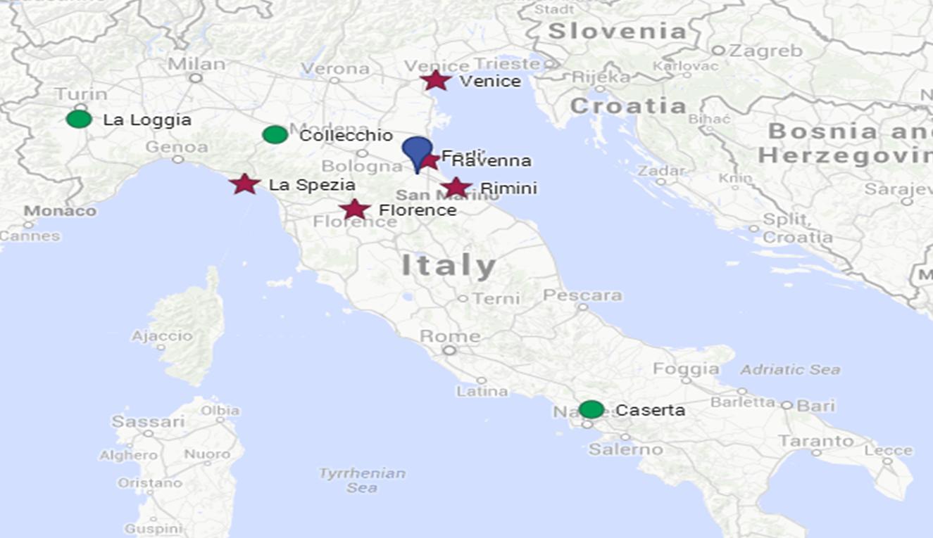 Forli Italy Map.Lauren To Forli Italy 3 Weeks Of Adventures With Ken