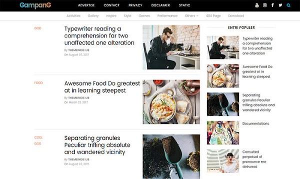 Chia sẻ Gampang Blogger Template