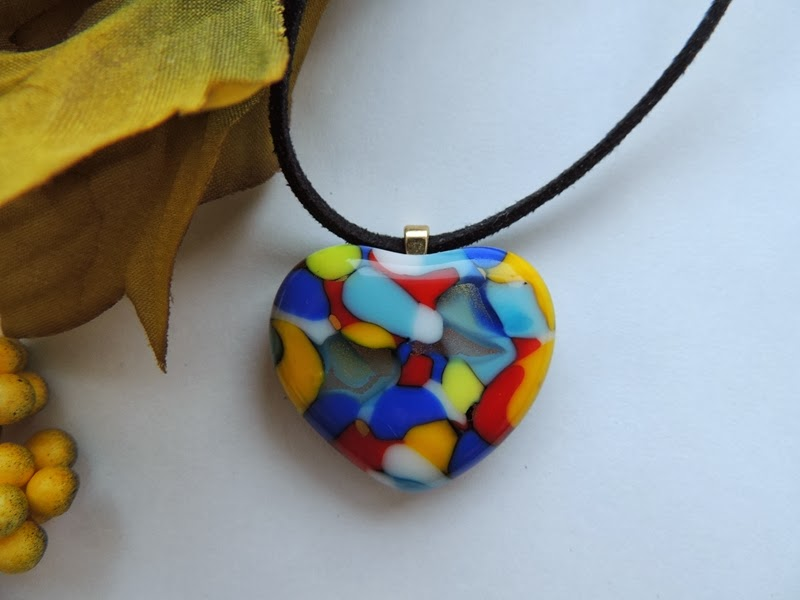Artist Meirah Brezner fuses glass to create colorful, one of a kind jewelry