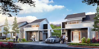 Model Rumah Tipe ORCHID 3, 45/160 dan 3A, 45/170 Citra Indah City