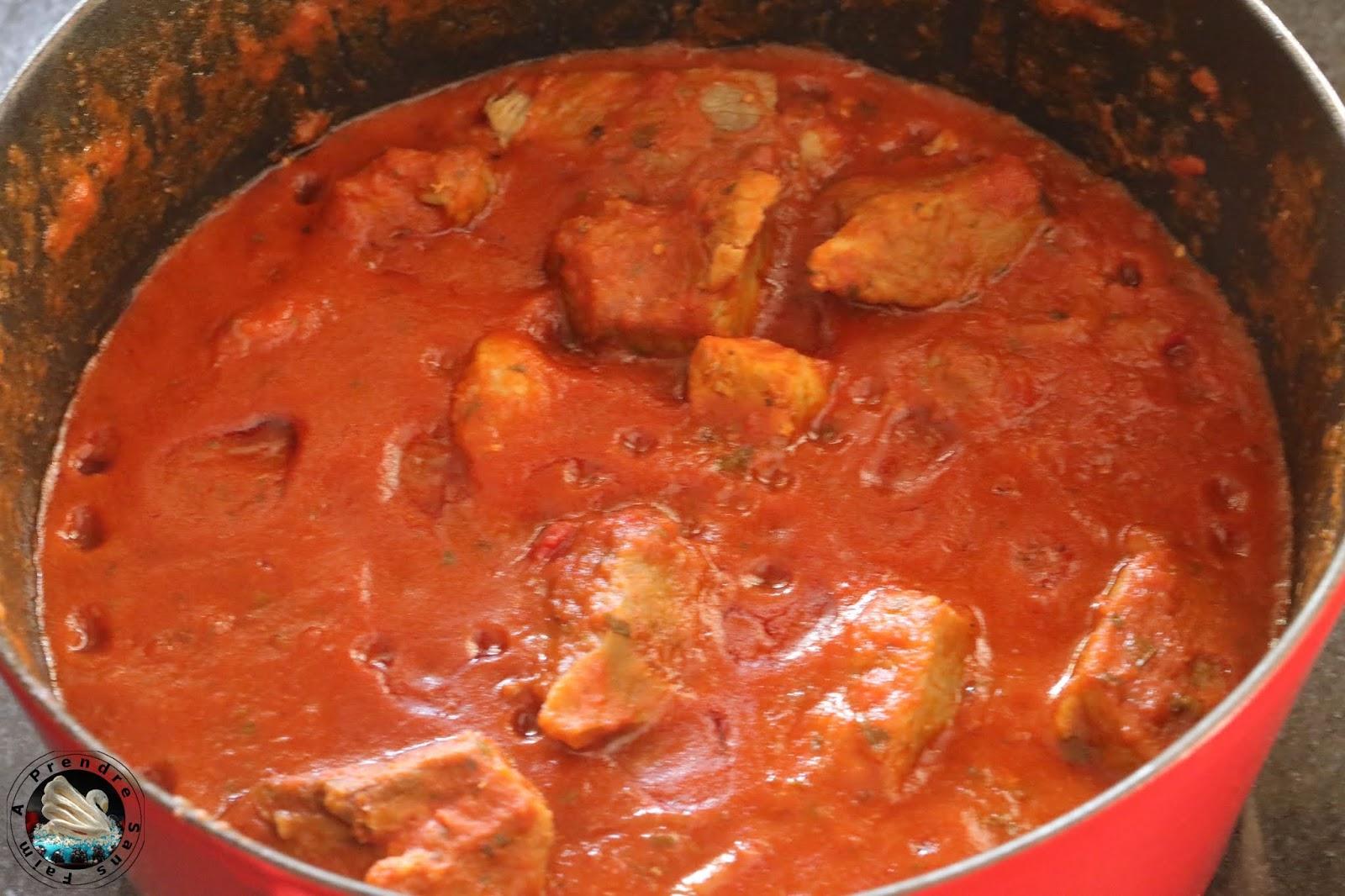 Cocotte de sauté de porc au curry
