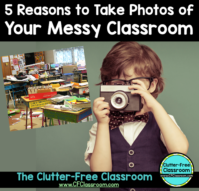 This blog post will explain why taking before photos is an important step in working towards an organized classroom that makes you feel less stressed and more productive as a teacher.