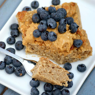 Easy Healthy Peanut Butter Baked Oatmeal Recipe