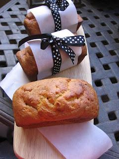 Slice Of Southern Mini Banana Bread Loaves