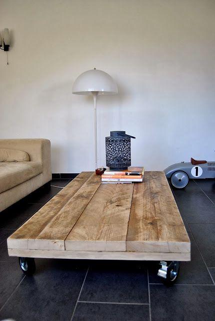 decoração reciclada madeira tabua mesa centro