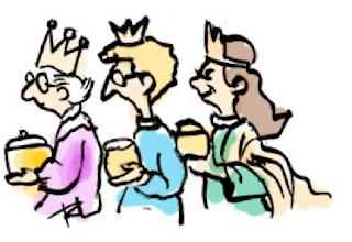 Three wise women cartoon picture