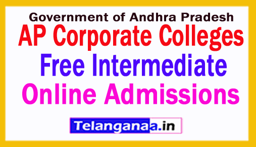 AP Corporate Colleges Free Inter Admissions notification 2018