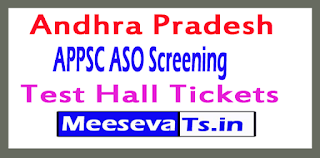 APPSC ASO Screening Test Hall Tickets