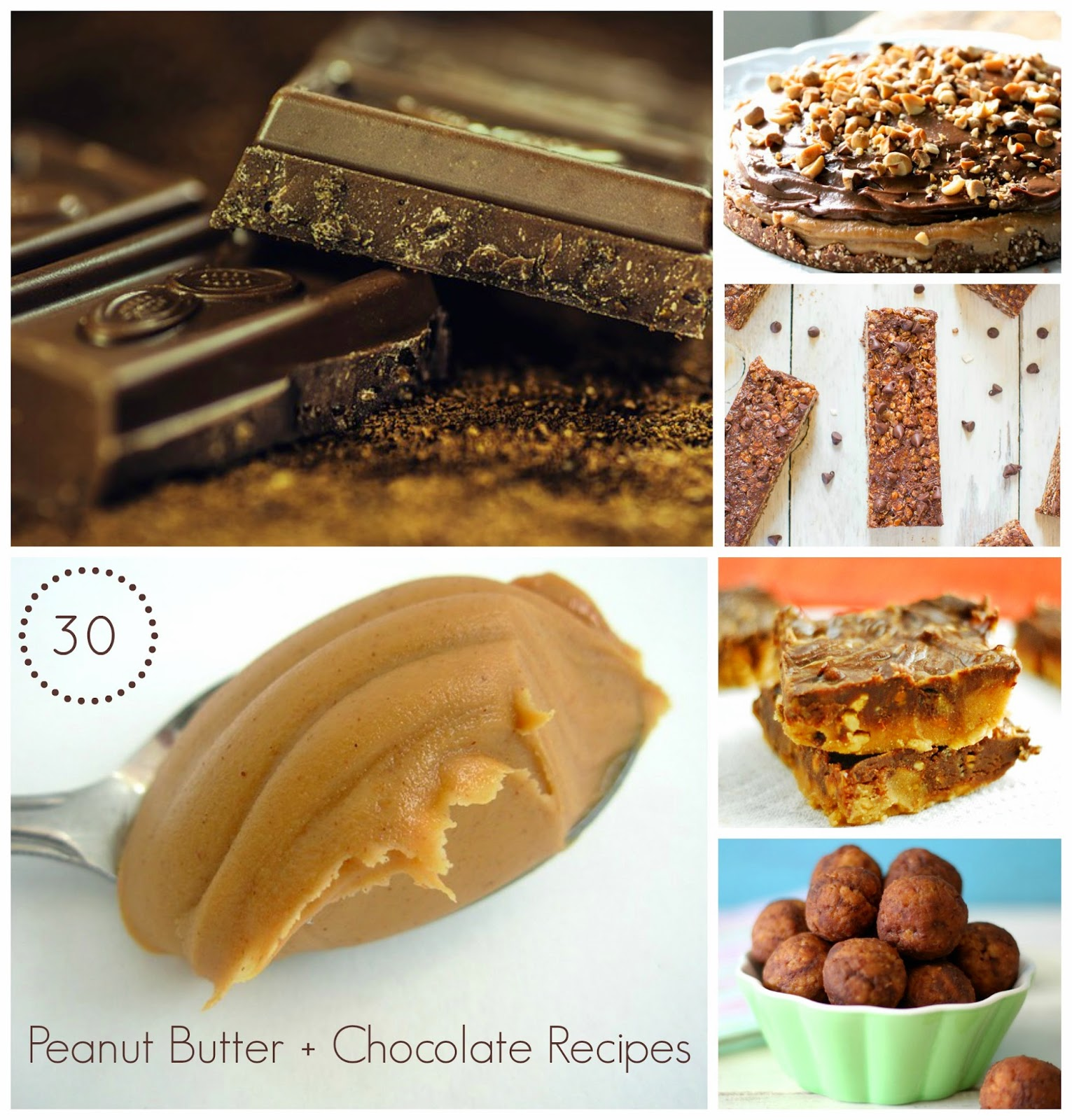 Peanut Butter With Chocolate Recipes {Healthy}