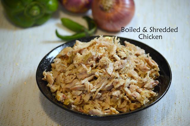 Boiled & Shredded Chicken