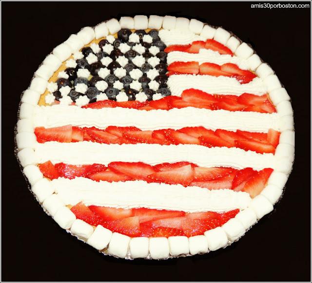 Tarta de Frutas del Día de la Independencia de Estados Unidos