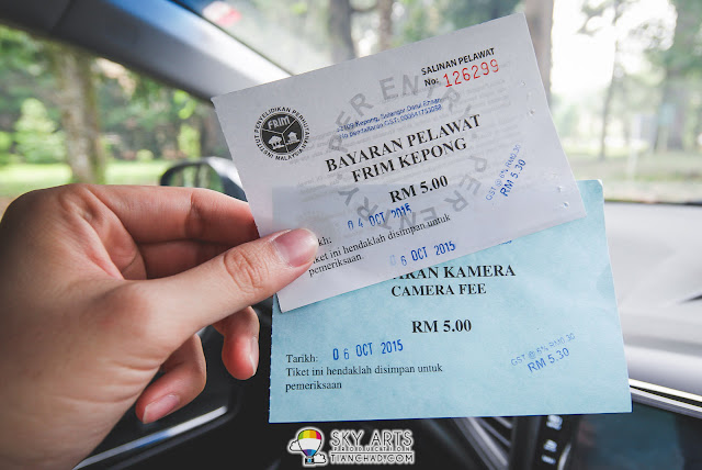 RM5 Entrance fee for parking and additional RM5 if you brought camera to FRIM