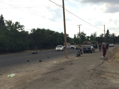 visalia tulare county scooter car crash melissa lystad houston avenue