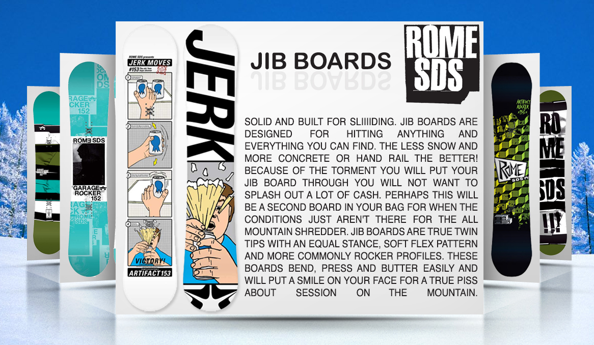 ATBShop Team Blog: Jib Snowboards from Rome SDS