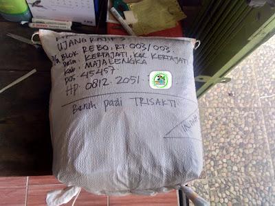 Benih pesanan UJANG RAJIF Majalengka, Jabar.   (Sesudah Packing)