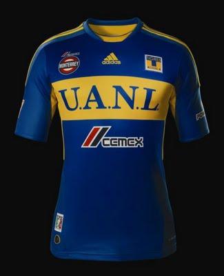Primera equipación   uniforme   camisa   jersey Tigres UANL 2012 visita  Adidas 59a1c73b16953