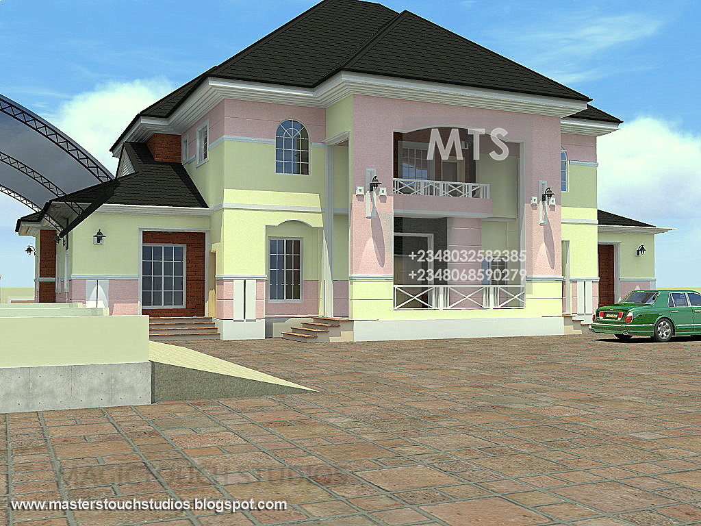 6 bedroom duplex with attached chapel and study for How many blocks can build 3 bedroom flat