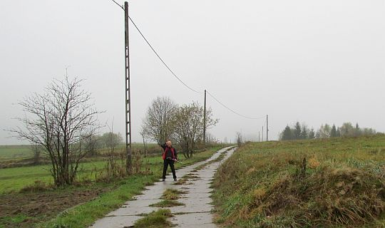 Droga na szczyt Bukowińskiego Wierchu.