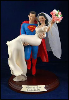 Best Superman and Bride Wedding Cake Topper