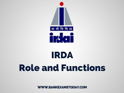 Irda Role Objectives And Functions Bankexamstoday