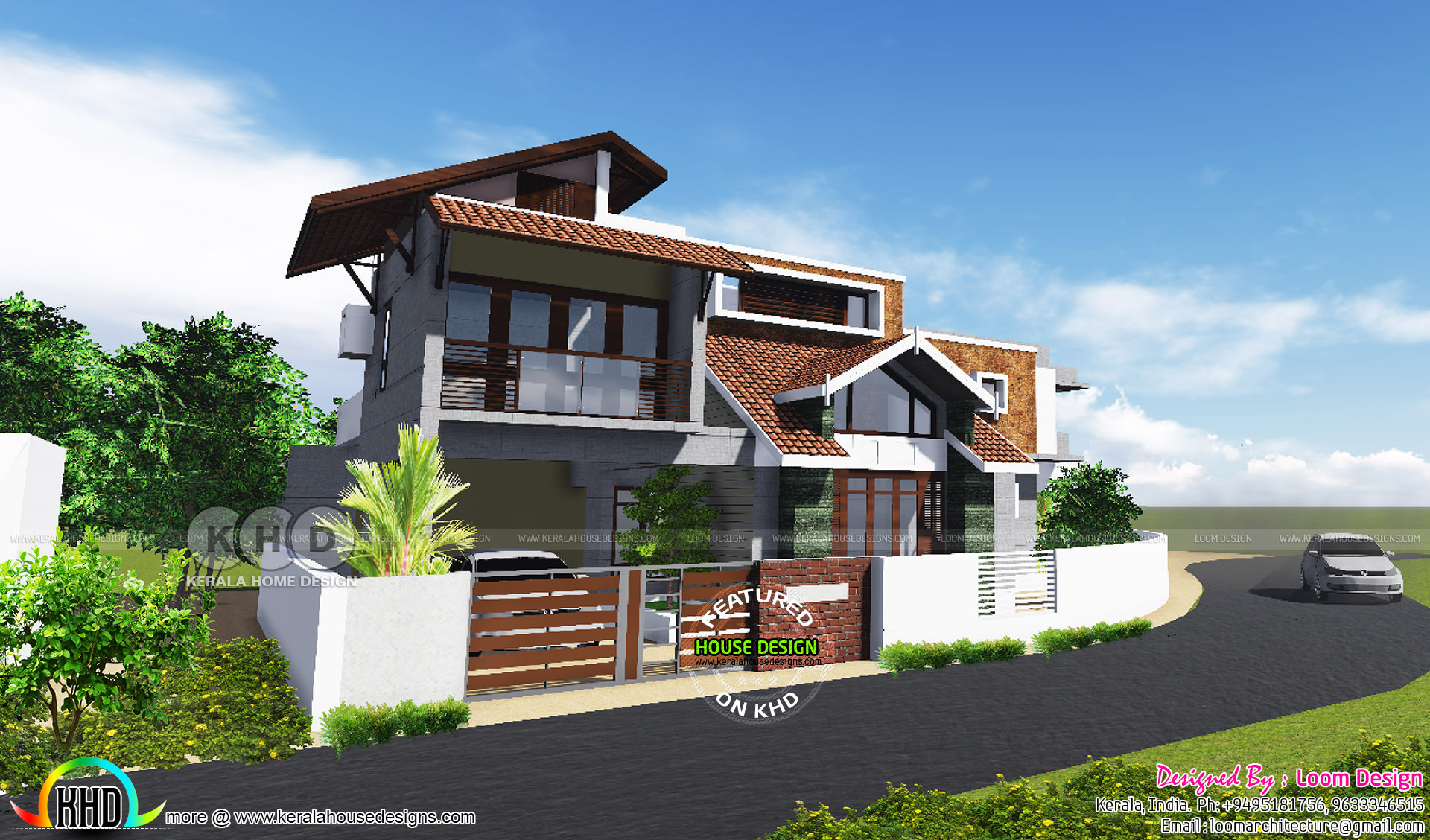 2650 Square Foot 4 Bedroom Modern Sloping Roof Home