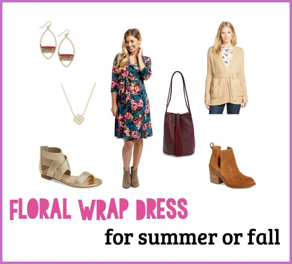 Versatile floral wrap dress for summer or fall | www.shealennon.com