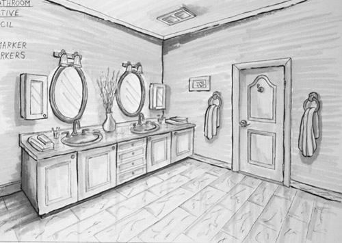 High Quality Point Perspective And Living Room Karen S Creations 2 Point Perspective  Room Interior. 2 Point Part 19