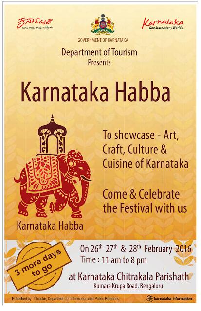 Karnataka Habba-To showcase - Art, Craft, Culture & Cuisine of Karnataka