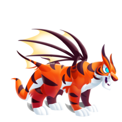Appearance of Tiger Dragon when adult