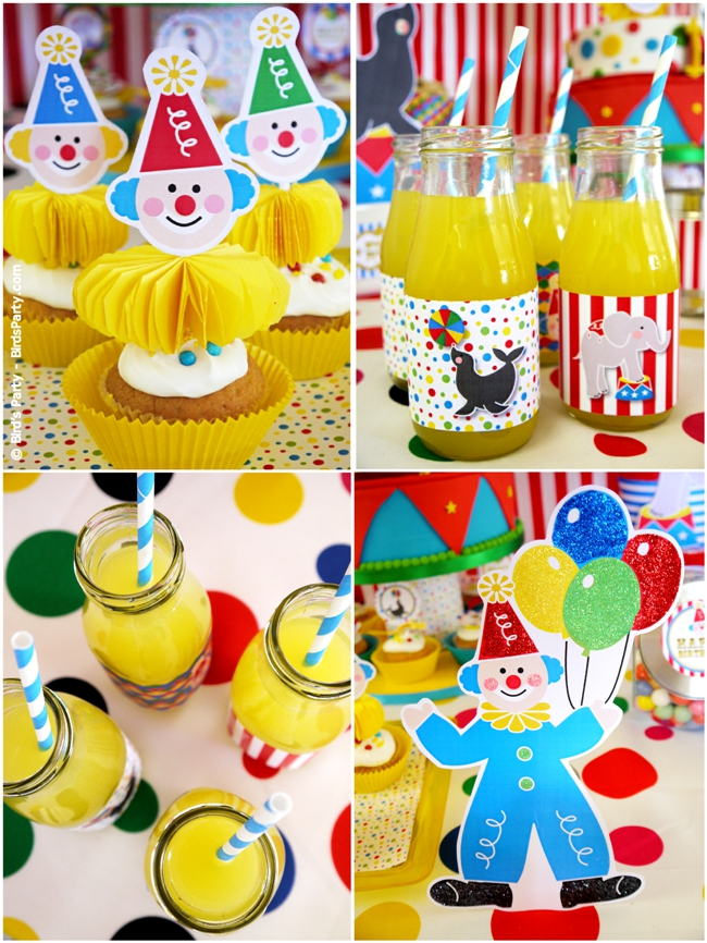 Big Top Circus Carnival Inspired Birthday Party Ideas and Printables desserts table