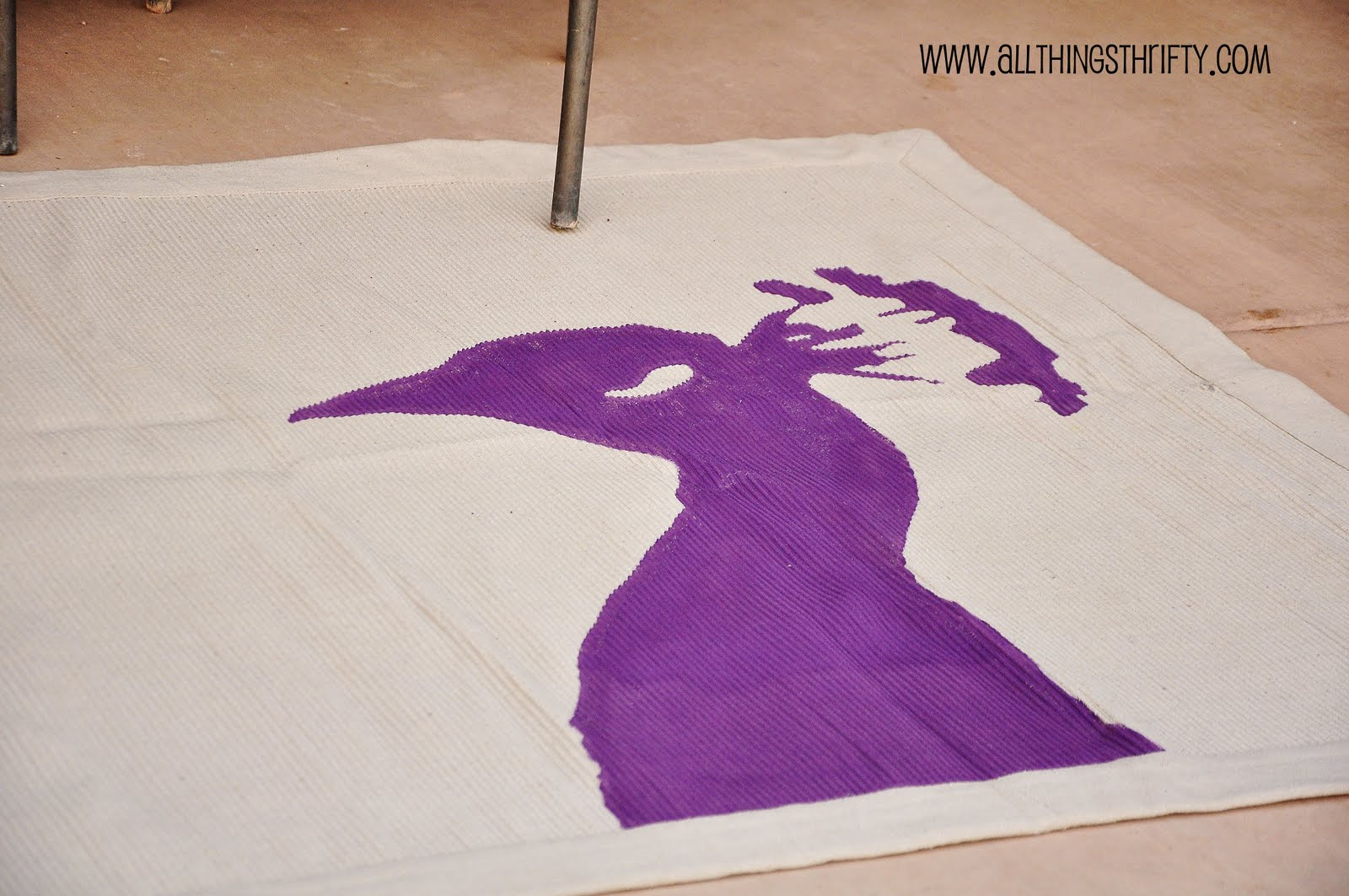 Diy Purple Peacock Rug All Things Thrifty