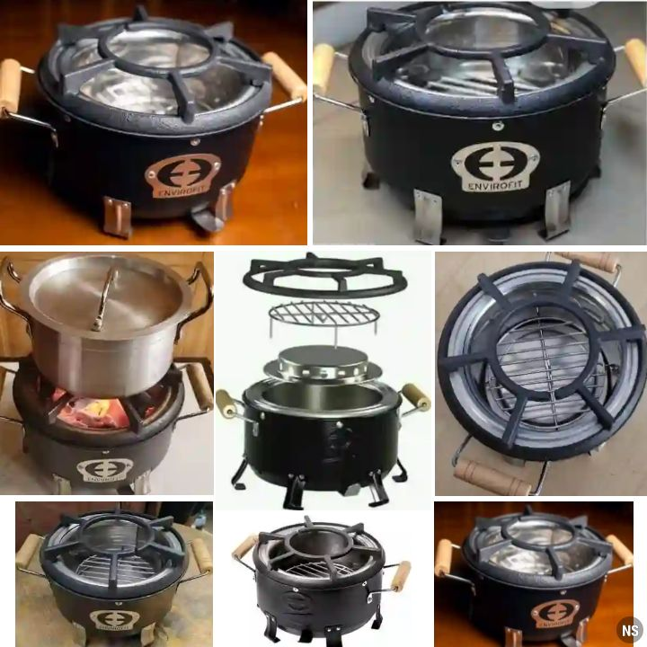 Envirofit Charcoal Stove: Household Smooth Flame Cooking Food Grill Kitchen Appliance - Alternative to Gas Cooker