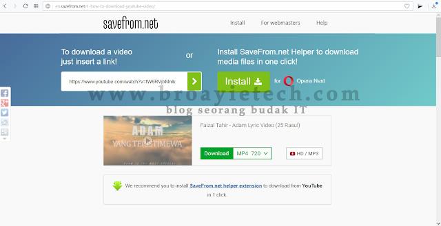 Panduan Muat Turun Video Di Youtube Tanpa Perisian