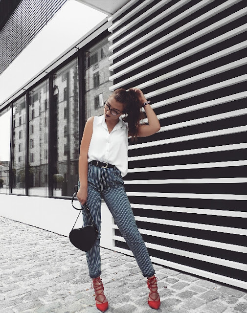 fashion, mode, blogger, forever21, high heels, chic, casual, dress down, girlfriend jeans, hm, h&m, cologne, köln, daniel wellington, glasses