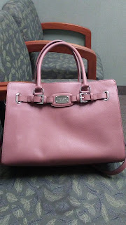 dusty pink Michael kors hamilton
