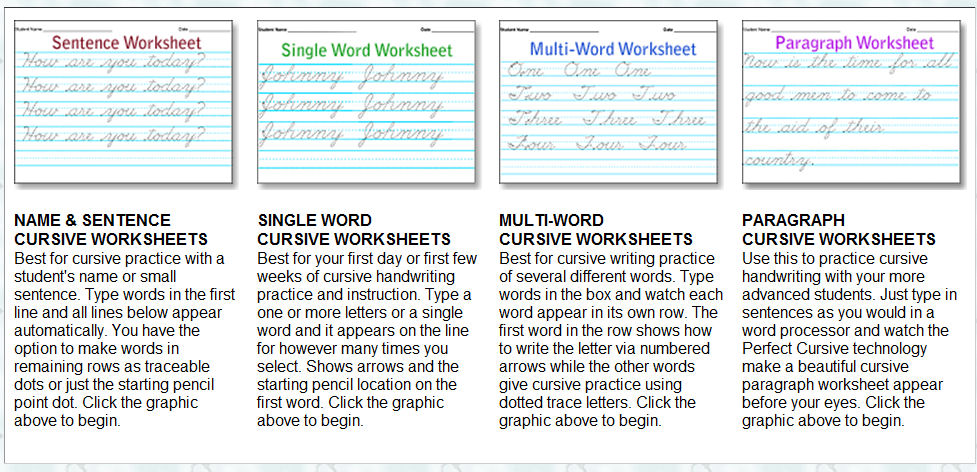 Storytime And More Free Cursive Handwriting Worksheet Maker