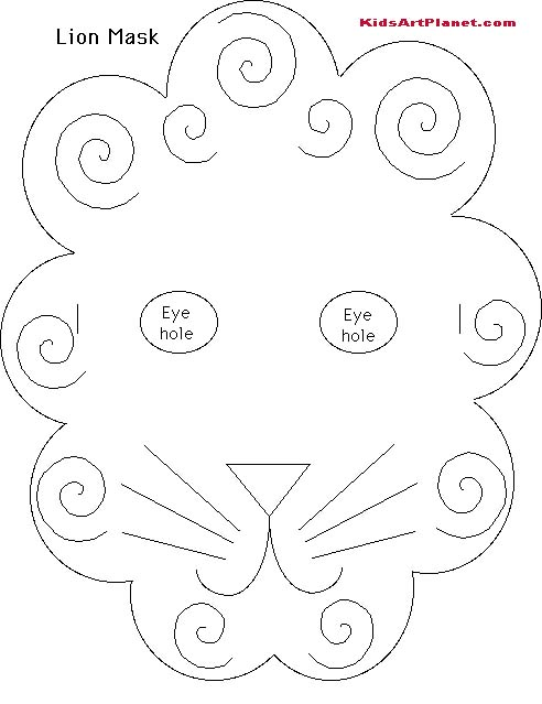 early play templates: Making Lion masks and Lion paper