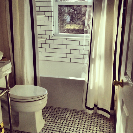 A This Is Gorgeous Bathroom B I Like The Classic Look Of Black And White We Almost Went With Floor But Once Chose Modern Vanity